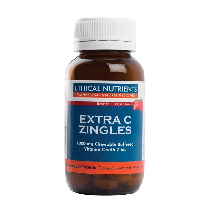 Ethical Nutrients Extra C Zingles Berry Fruit Tingle Flavour Tab X 50