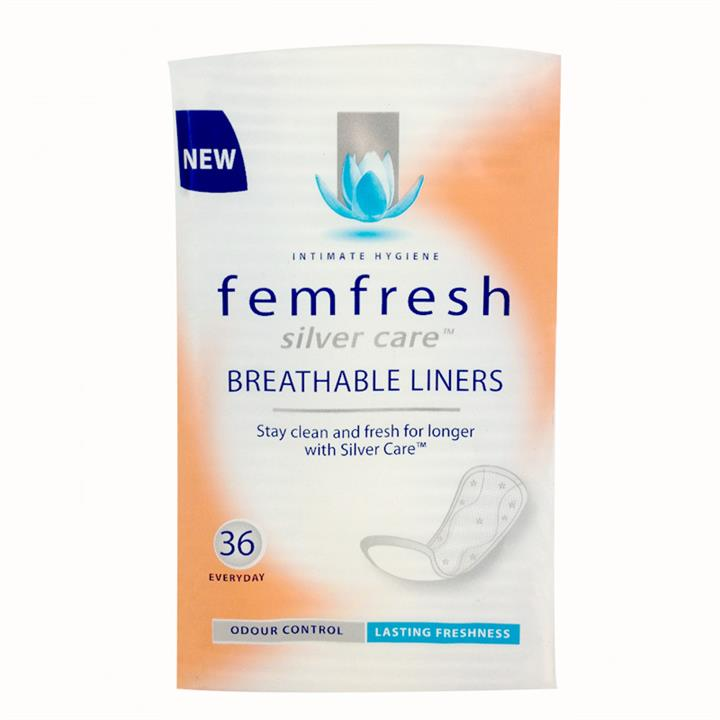 Femfresh Silver Care Breathable Liners X 36
