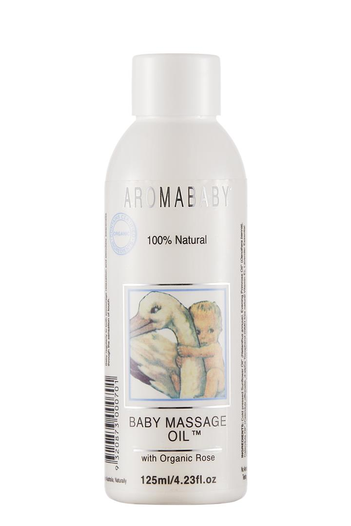 Aromababy Baby Massage Oil with Organic Lavender & Rose 125ml