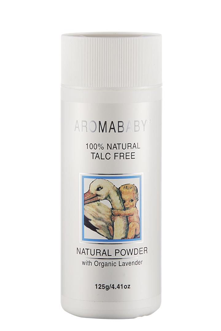 Aromababy Natural Powder With Organic Lavender Essential Oil 125g