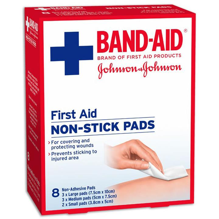 Band-Aid First Aid Non Stick Gauze Pads X 8