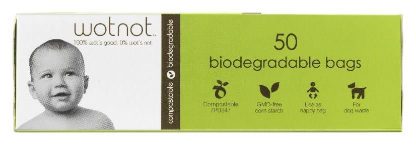wotnot Biodegradable Nappy Bags X 50