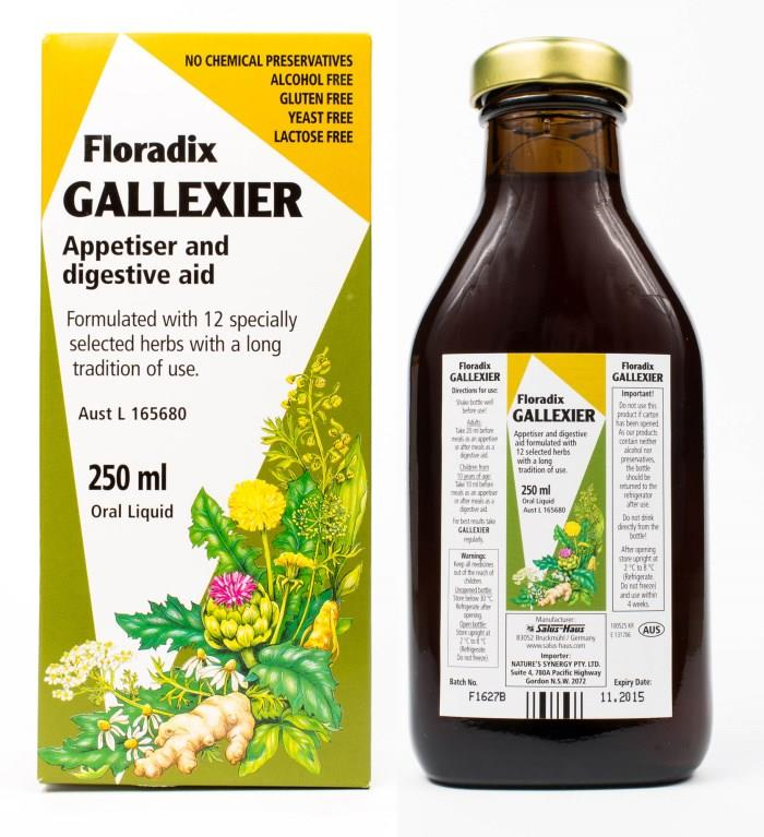 Floradix Liquid Gallexier Appetiser and Digestive Aid 250ml