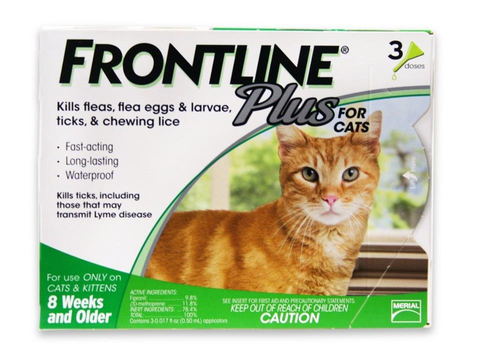 Frontline Plus For Cats – 3 Pack