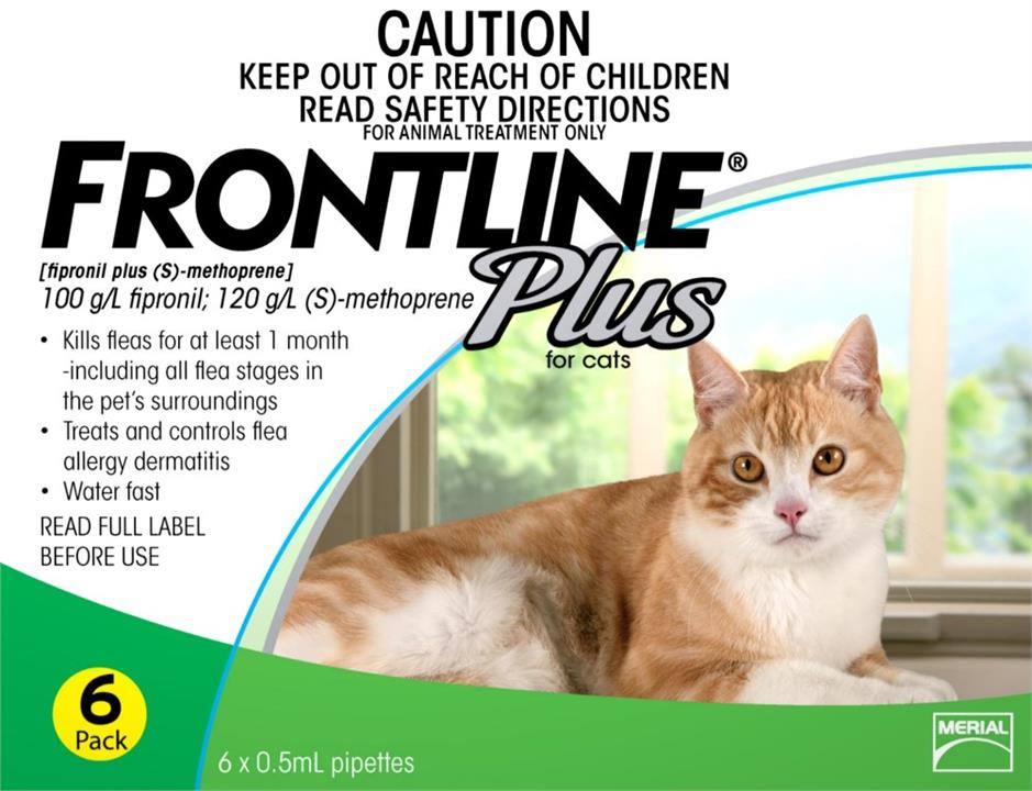 Frontline Plus For Cats – 6 Pack