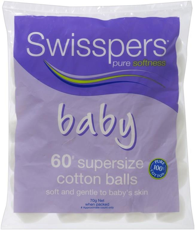 Swisspers Baby Care Cotton Wool Balls X 60