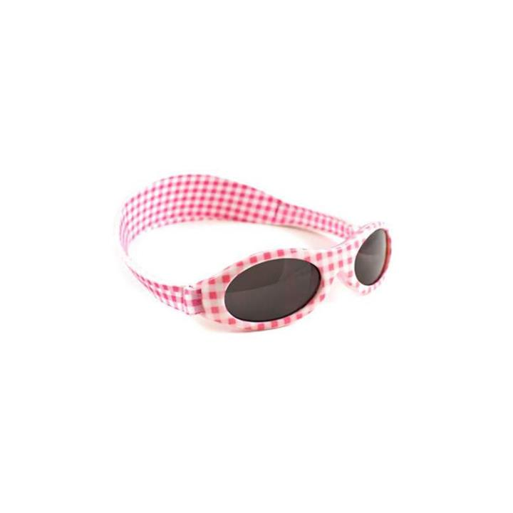 Baby Banz Adventure Pink Check Sunglasses (Baby 0-2 Years)