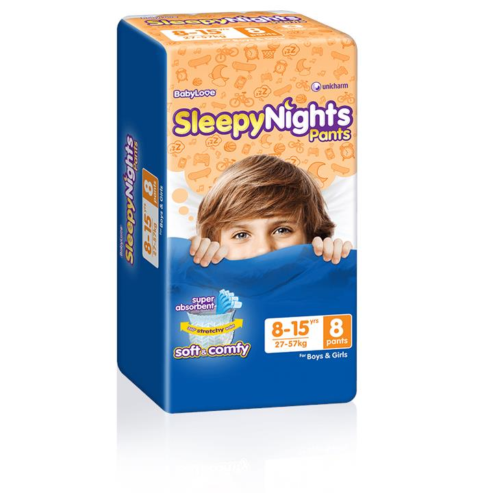 BabyLove Sleepy Nights Pants 8 to 15 Years (27 to 57kg) X 8 (Limit 2 per order)