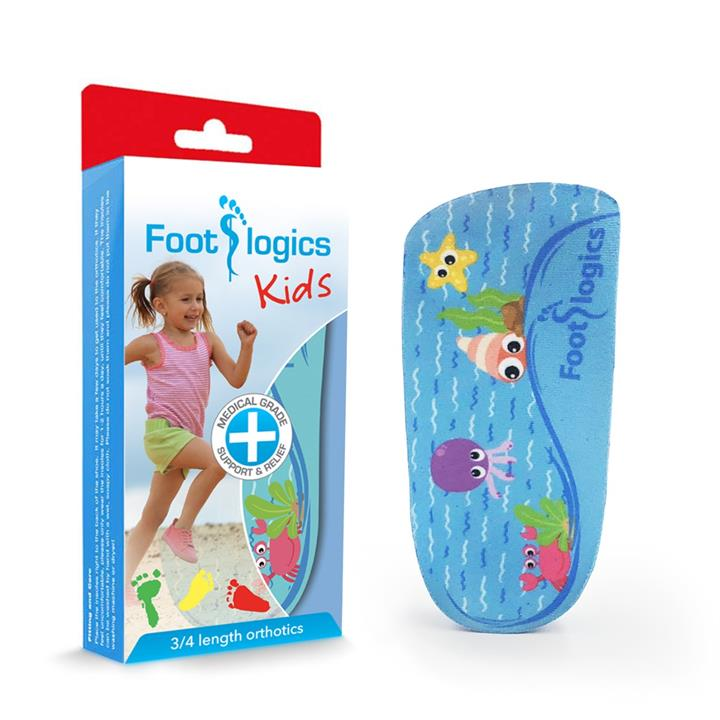 Foot Logics Kids 3/4 Length Orthotic Insoles (K)