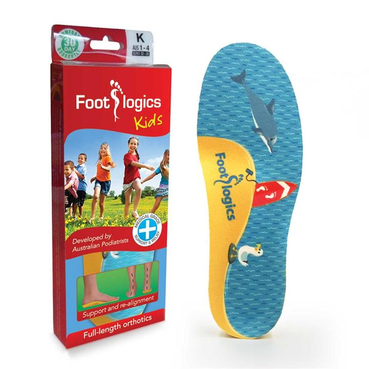 Foot Logics Kids Full Length Orthotic Insoles (K)