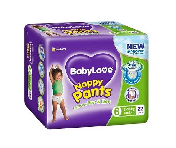 BabyLove Nappy Pants Junior (15 to 25kg) X 22 (Limit 2 per order)