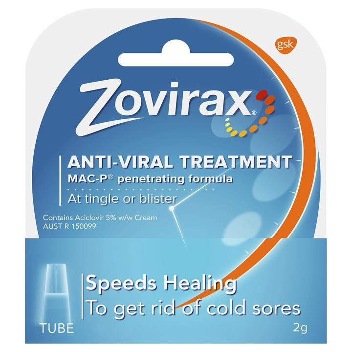 Zovirax Cold Sore Cream (Tube) 2g