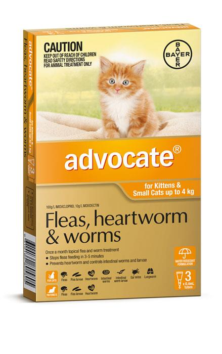 Advocate For Kittens And Small Cats (Up To 4kg) – 3 Pack