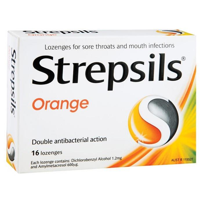 Strepsils Lozenges Orange X 16