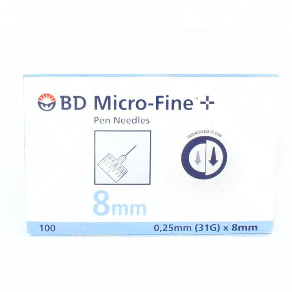 BD Insulin Pen Needle Micro-Fine 31 Gauge (0.25mm) X 8mm X 100