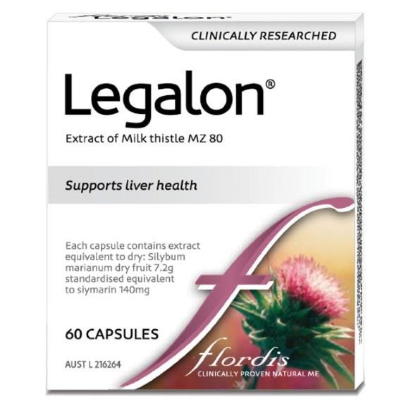 Flordis Legalon For Liver Health (Milk Thistle) Cap X 60