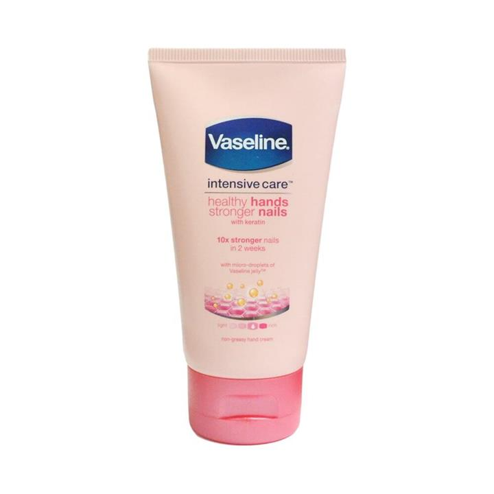Vaseline Hand Cream Intensive Care Healthy Hands Stronger Nails With Keratin 75ml