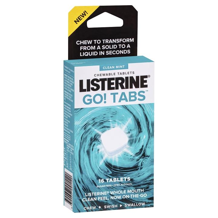 Listerine Go! Tabs Clean Mint Chewable Tab X 16