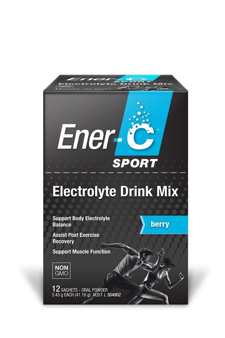 Ener-C Sport Electrolyte Drink Mix (Berry) Sachets X 12