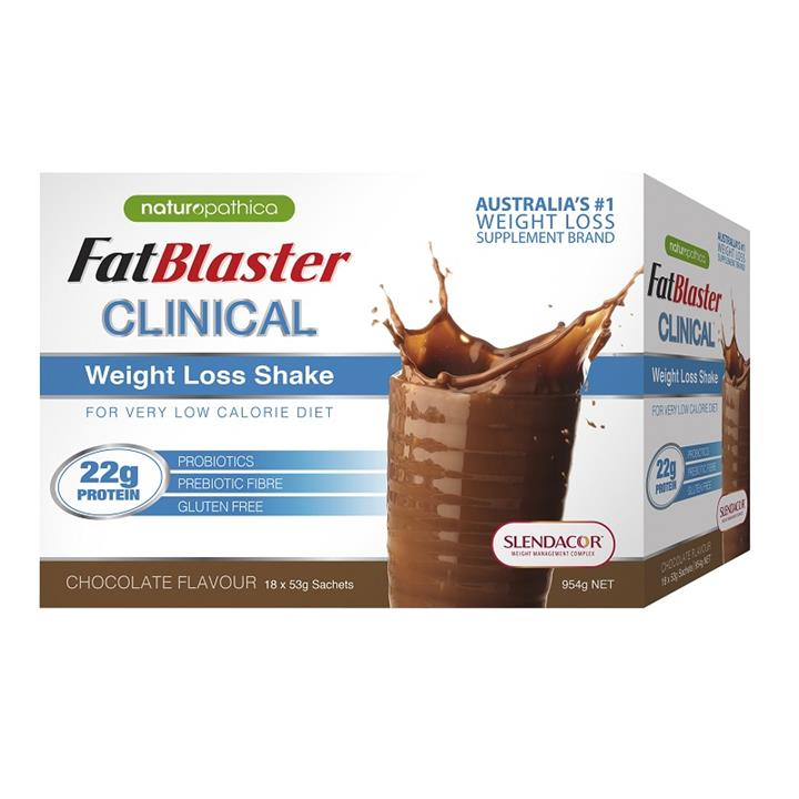 FatBlaster Clinical Weight Loss Shake (Chocolate) Sachets 53g X 18