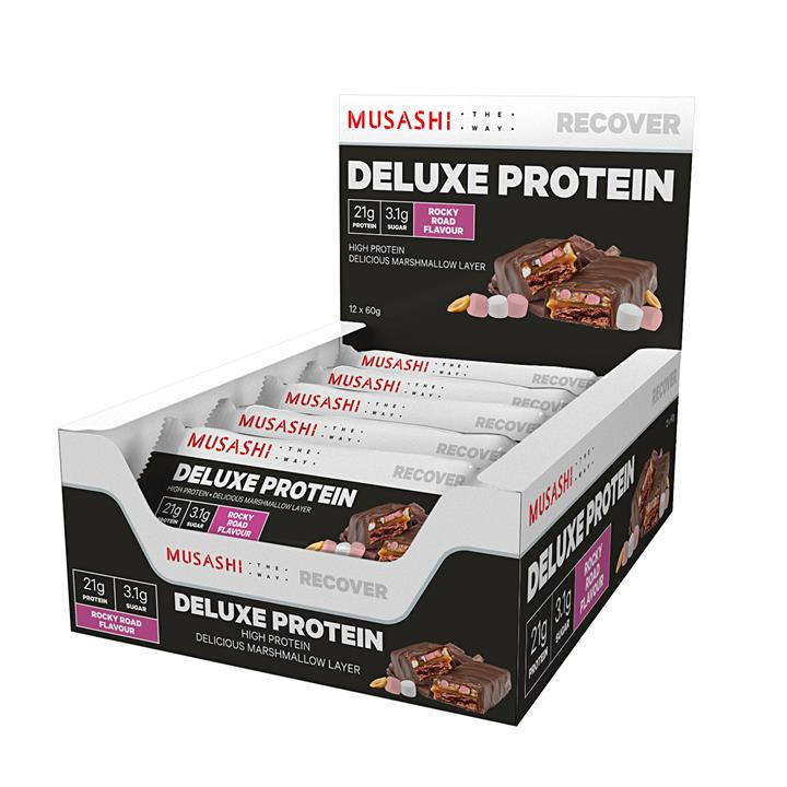 Musashi Deluxe Protein Bar 60g (Box of 12)