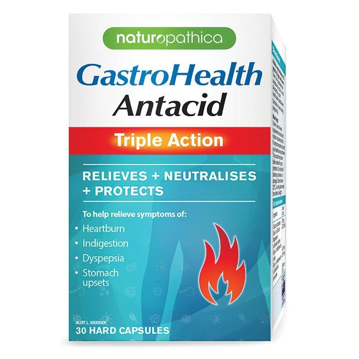 Naturopathica GastroHealth Antacid Triple Action Cap X 30